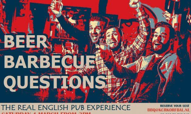 Zaterdag 4 maart Voetbal, bier en een goede burger!