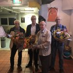 70 jaar lid Cor van Galen, 50 jaar en erelid Dirk Belder, Lid van verdienste Piet Klootwijk