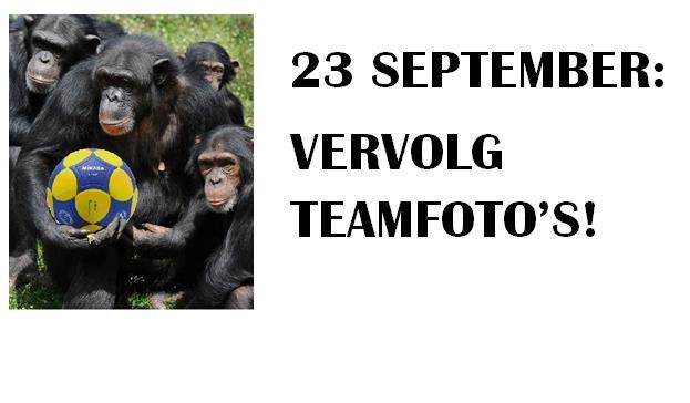 Zaterdag 23 september vervolg teamfoto's maken