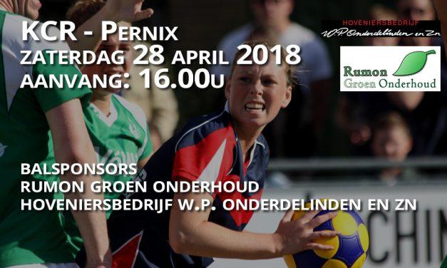 Zaterdag 28 april KCR – Pernix