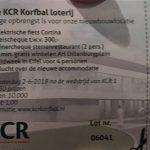 KCR loterij oproep om loten in te leveren !!