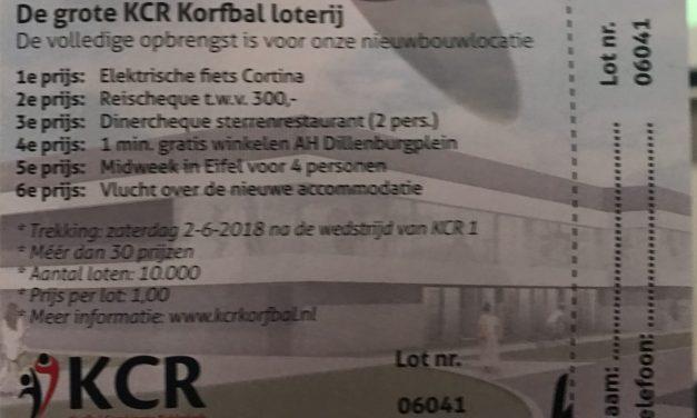 KCR loterij oproep om loten in te leveren + Nieuws over de trekking van zaterdag