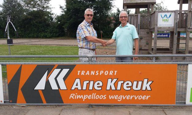 Transport Arie Kreuk nieuwe sponsor KCR