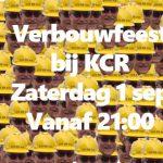 Zaterdag 1 september startdag en verbouwfeest bij KCR