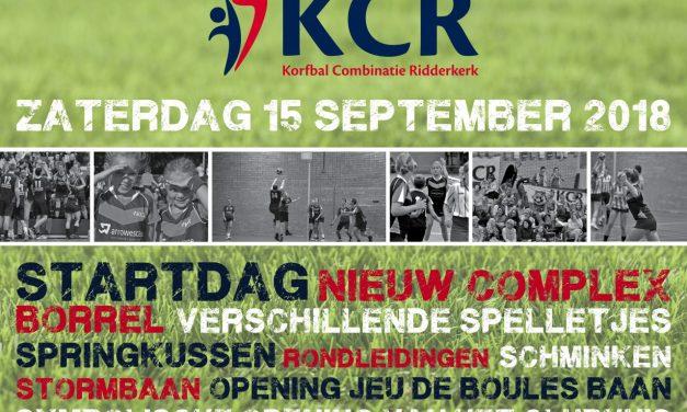 Zaterdag 15 september openingsdag KCR accommodatie